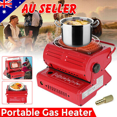 2 in 1 Protable Camping Butane Gas Heater Warmer Hiking Survival Cooker AU STOCK