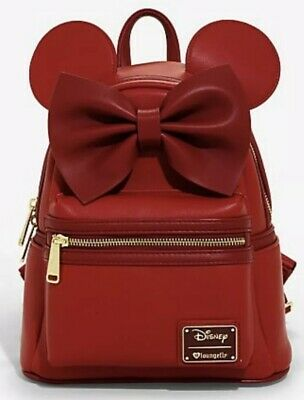 Loungefly Disney Minnie Mouse Red Ears Mini Backpack Bag NWT