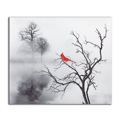 Red Bird Tree Canvas Print Painting Modern Home Wall Picture Art Decor