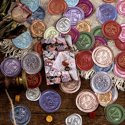 45pcs Retro Sealing Wax DIY Diary Stickers Paper Lables Gifts Packaging Decor ^S