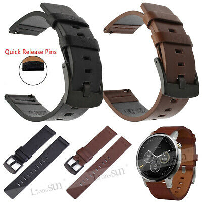 Genuine Leather Band Watch Strap Wristband Belt With Quick Pins 22mm 20mm 18mm