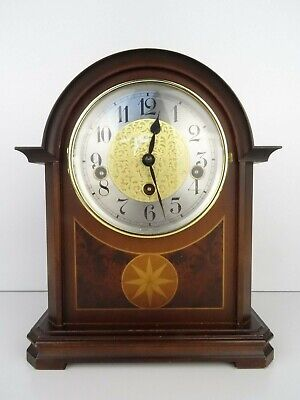 Vintage Clock HERMLE WESTMINSTER 8 day Wind Up Mantel (Junghans Kienzle era)