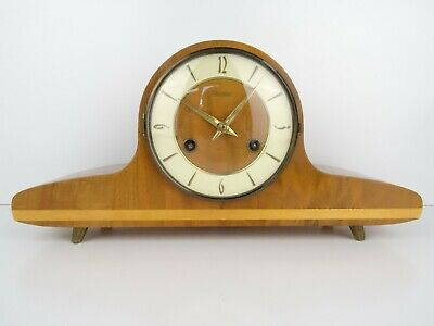 Vintage Antique German WAMDA 8 day Wind Up Mantel (Junghans Kienzle era)