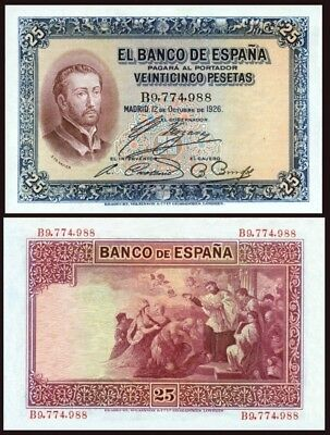 Facsimil Billete 25 pesetas de 1926 - Reproductions
