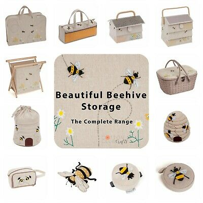 Sewing Box, Knitting Bags and Accessories ~ Bee / Beehive Design ~ Matching Sets