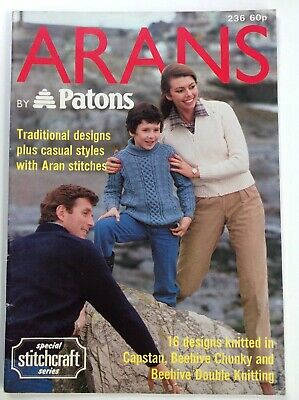 Patons- Family Aran's Traditional & Casual Styles - Knitting Pattern Book