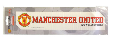 10 X Official Manchester United MAN UTD Football Club Car Window Sticker (White)
