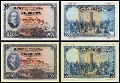 Facsimil Billete 50 pesetas de 1927 - Reproductions