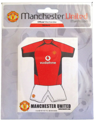 5 x Official Manchester United Football Club Man Utd Car Window Sticker Vodafone