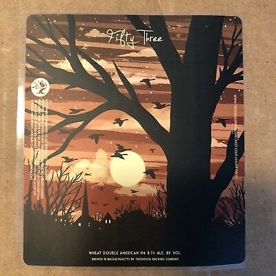TREE HOUSE BREWING CO STICKER CURIOSITY 53 CAN LABEL sticker decal monkish juice
