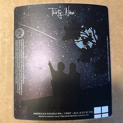 TREE HOUSE BREWING CO STICKER CURIOSITY 39 CAN LABEL sticker decal monkish king