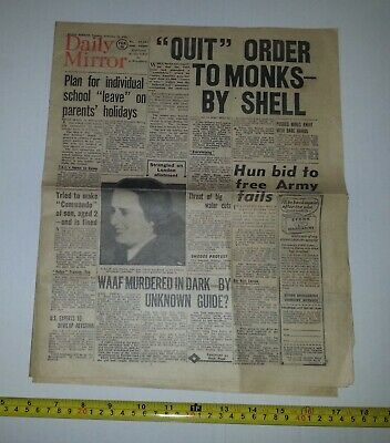 DAILY MIRROR Newspaper - 15 FEBRUARY 1944 - WW2 World War 2 - RAF, Spitfires etc