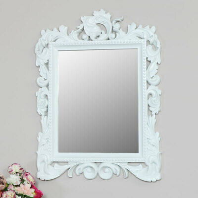 Large ornate wall mounted mirror French rococo baroque home decor display gift