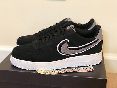 official photos 45479 2946c Nike Air Force 1 Low  07 LV8 Chenille Swoosh Black Grey Mens sizes 823511  014