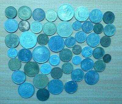 50 coins of the world.    Free Shipping by registered mail