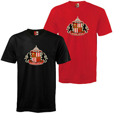 Sunderland AFC Official Football Gift Mens Crest T-Shirt