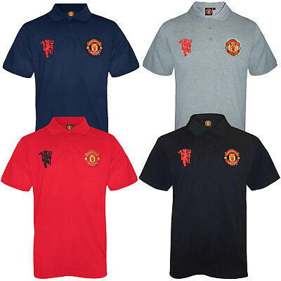 Manchester United FC Official Football Gift Mens Crest Polo Shirt