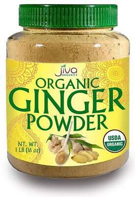 Organic Natural Ground Ginger Root Powder Container USDA Certified Non-GMO 1LB