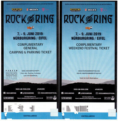 Rock am Ring 2019 - Weekend Festival Ticket - mit Ticket für Camping & Parking