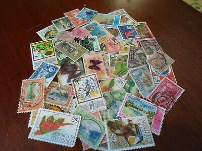 Collection lot 40 different stamps of Trinidad & Tobago