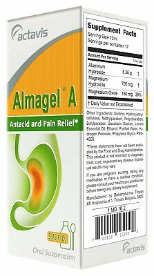 Almagel A Suspension For Heartburn, Upset Stomach Gas Relief - 170ml/5.75 Fl Oz
