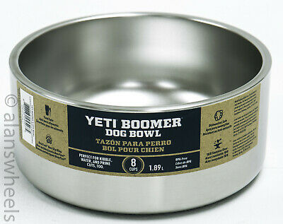 Brand New Yeti Boomer Dog Bowl Dish 8 Cups Stainless Steel Heavy Duty!