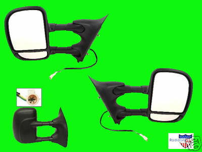 1999 00 2001 2002 Ford F250 350 450 550  Super Duty New EXTENDING Mirror Pair