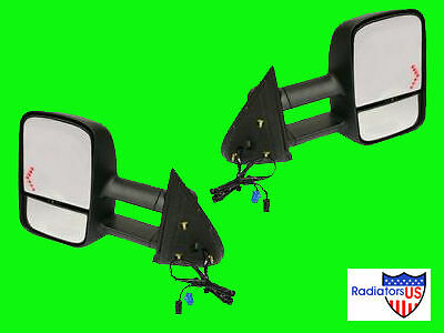 2004 2005 2006 Chevy Gmc Truck Towing Mirrors W/ Signal Pair Hd Extending New