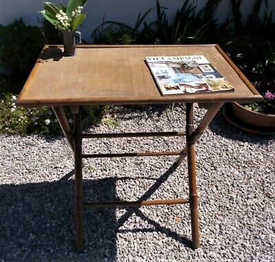 vintage folding table,wooden, french occasional side table,bedside