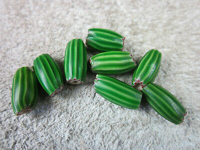 Antike Glasperlen, melon beads, Chevron, Murano, Handelsperlen, Trade beads