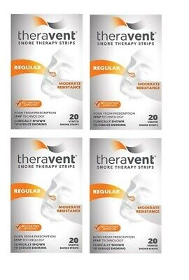 Theravent Snore Therapy Strips - REGULAR MODERATE - Set of (4) 20 ct = 80 Total!