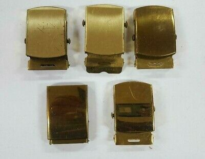 Vintage Military Style Solid Brass Belt Buckle  Lot of 5