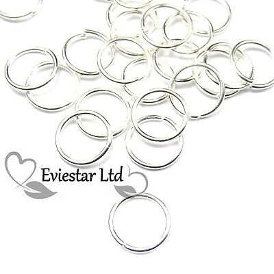 200 Jump Rings Silver Plated 4 5 6 7 8 10mm Jewellery Findings AKB