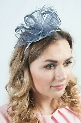 Grey Ladies Headpiece Sinamay Fascinator Ascot Wedding Fascinators Millinery