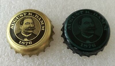 2x Spain Rare Used Bottle Cap S.A. Damm August K. Damm 1876 Beer Chapa
