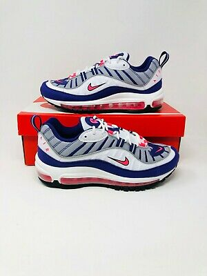 95371c2f91 Nike Women's Air Max 98 Raptors White Racer Pink Purple Size 8 (AH6799-110