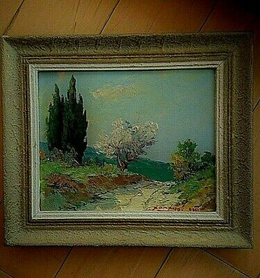Ancienne Peinture huile, Galeries TAIX à GAP, signée - Old French Oil Painting