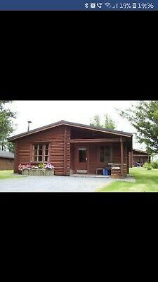 Log cabin holiday week 33, Saturday 17th August-24th August, swimming pool etc