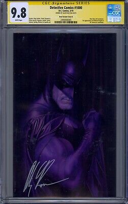 Detective Comics #1000 Cgc 9.8 Ss Alex Ross Signed Virgin Variant B Cover