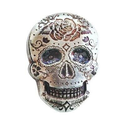 2 oz Monarch Precious Metals Hand Poured Rose Sugar Silver Skull