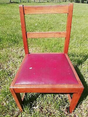 World War 11 Oak NAAFI Chair Stamped R & HC Mines, Downey Circa 1930s/40's