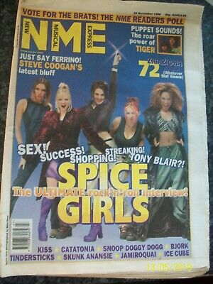 NME New Musical Express 23 November 1996 THE SPICE GIRLS Cover Kiss Catatonia