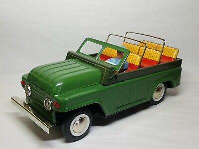Vintage Lucky Friction Open Car Cabriolet Green
