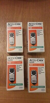 Accu-Check Mobile Cassette 4 X 50 ( 200 total ) Expires 2020 BRAND NEW SEALED