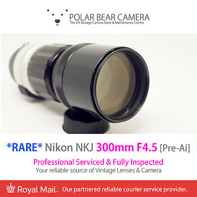 Nikon 300mm F4.5 NKJ Nikkor-H Pre-AI Fast Tele Lens [SERVICED, With CASE + CAP]