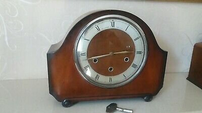 Vintage Alexander Clark Co Ltd Smiths Floating Balance Westminster Mantel Clock