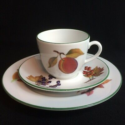 Royal Worcester Evesham Vale Trio - Side Plate Coffee Cup & Saucer