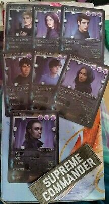 Defy Me Shatter Me series inspired Player Cards (7 Characters) & Iron on patch