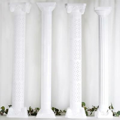 """4 pcs WHITE 9.5"""" tall Wedding Roman Empire Columns Extensions Party Decorations"""