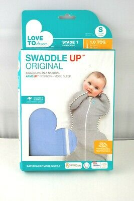 Love To Dream Swaddle UP, Blue, Small, 7-13 lbs, Dramatically Better Sleep
